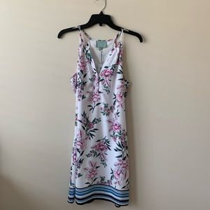 NWT Skies Are Blue Floral Stripe Shift Dress
